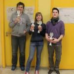 Siegerehrung U16: Florian Ott (2.), Kristin Braun (3.) und Daniel Diller (1.)
