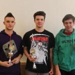 BayU18SSEM: Tibor Surinya (3.), Rene Stingl (1.) und Florian Ott (2.)