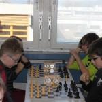 Spitzenpaarungen in der U14: Eva Schilay - Pablo Wolf (SC Bamberg), Maximilian Haas (SC Erlangen) - Ben Frauenknecht (SV Weichering)