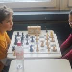 Maria Schilay gegen Turniersieger Jon Englert (TV-Großostheim)