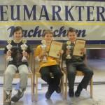 Siegerehrung U12: Liliane Pavlov (RT Regensburg/2.), Jon Englert (TV-Großostheim/1.) und Maximilian Lohr (TSV Mainburg/3.)
