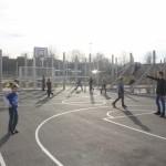 Der Fussballplatz erfreute sich großer Beliebtheit